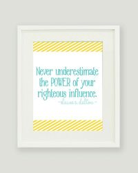 8x10 LDS Wall Art - Young Women Quote