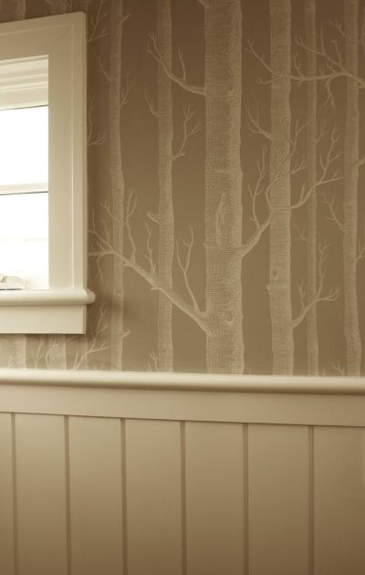 wallpaper/trim/paint combo | For My Home | Pinterest