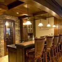 rustic basement bar   Basement inspiration   Pinterest