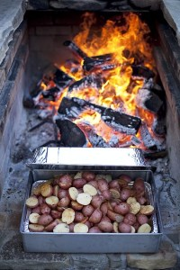 Fire pit food made for a delicious meal!   Land Rover Cape ...