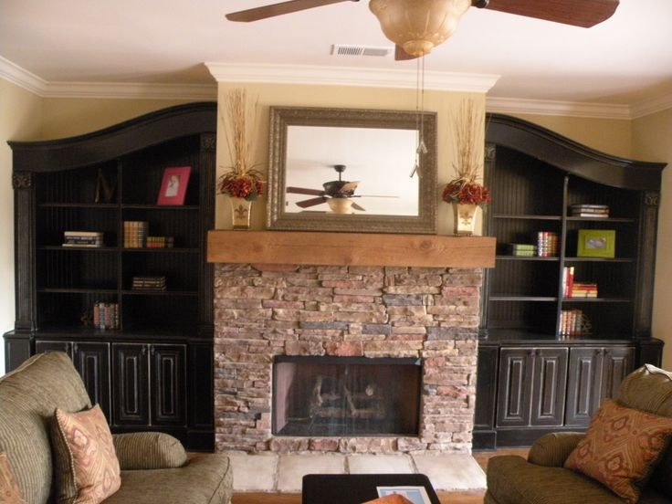 Built In Bookshelves Around Fireplace Built-in Bookshelves Around Fireplace | Janice Living Room