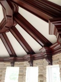 Coffered ceiling trim with corbels | Home and Decor ...