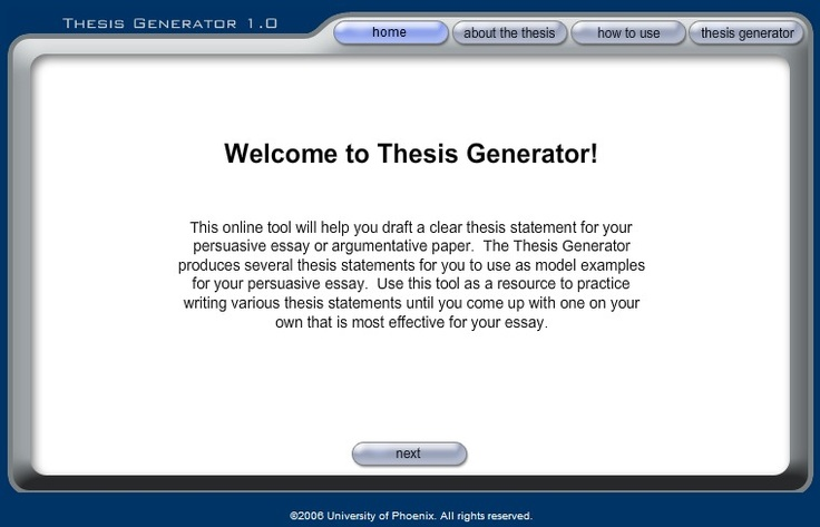 Online thesis statement generator