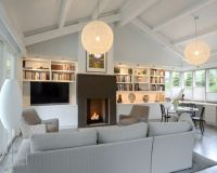 Living room sloped ceiling | For THE home | Pinterest