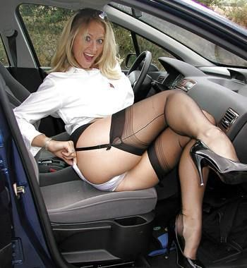 corset stockings high heels