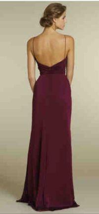 Bridesmaid dress : merlot | Wedding | Pinterest