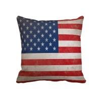 Patriotic Grunge American Flag Pillow