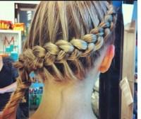 inside outside french braid   Nice hair styles   Pinterest