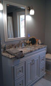 Gray and blue bathroom | Bathroom Design | Pinterest