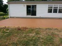Colored concrete patio | Back yard ideas | Pinterest