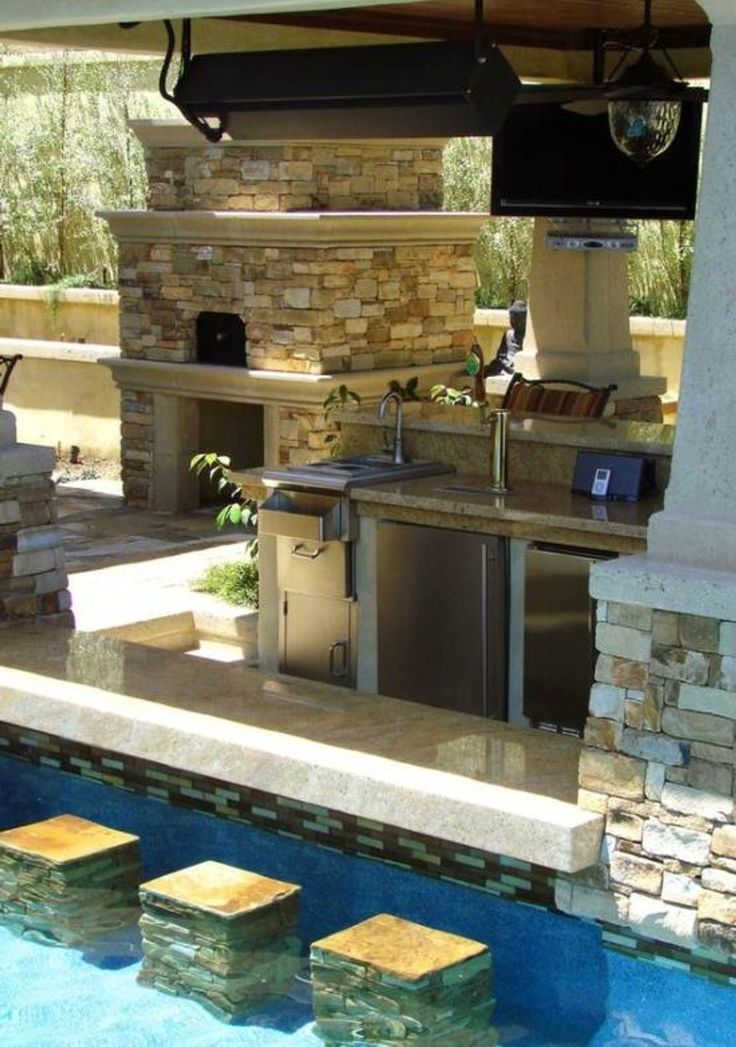 Swimming Pool Design Ideas With Bar