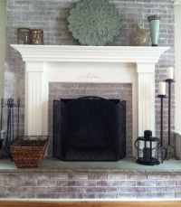 Whitewashed the fireplace in two hours!   Fireplace ...