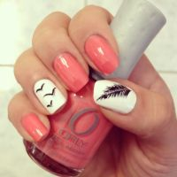 Feather bird nails | Nail Art | Pinterest