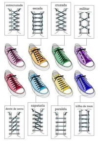 Creative ways to tie your shoelaces