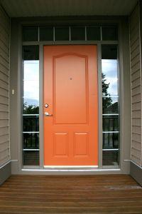 Orange Front Doore Benjamin Moore - Buttered Yam   curb ...