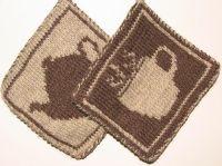 knitted pot holders free pattern | knitting | Pinterest