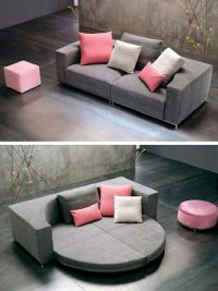 Round convertible sofa bed =-O | Houses & Rooms & Decor ...