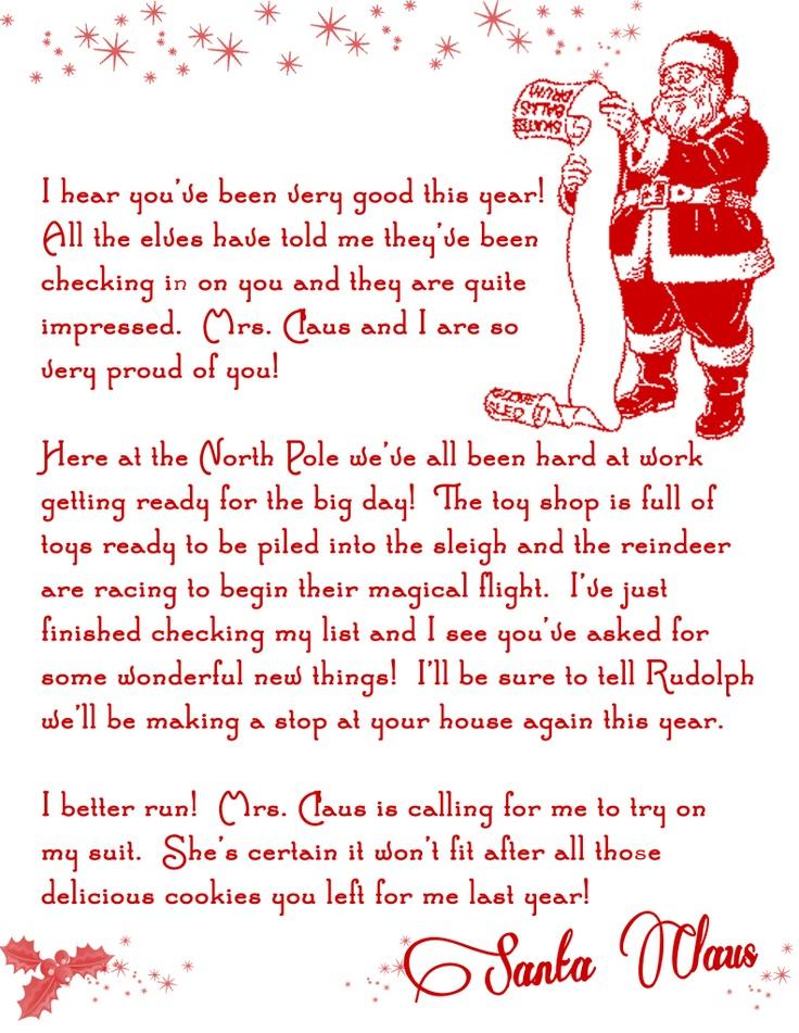 Editable Letter From Santa Santa Letter Naughty List Letters From ...