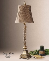 Laurent French Country Leaf Design Buffet Table Lamp ...