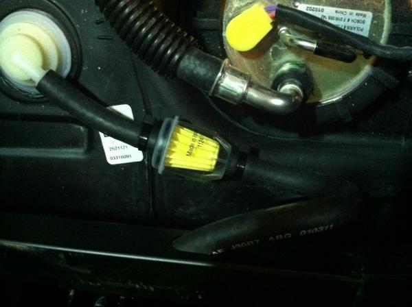 polaris ranger fuel filter location