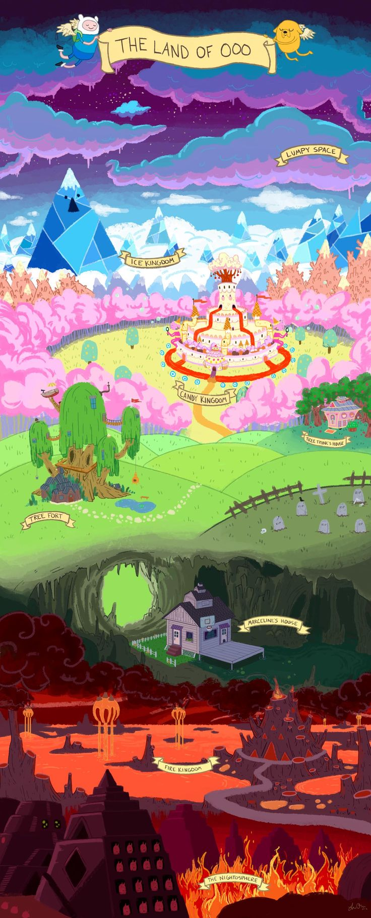 Gravity Falls Landscapes Wallpaper Land Of Ooo Adventure Time Www Imgkid Com The Image