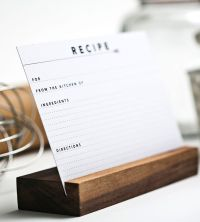 Recipe Cards & Holder.