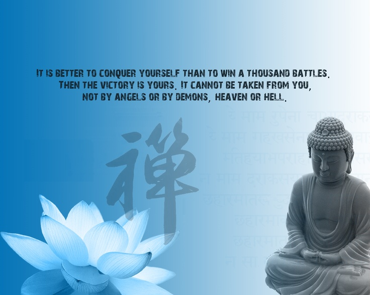 Pinterest Desktop Wallpaper Lotus Quote Buddha Quotes Conquer Yourself Quotesgram