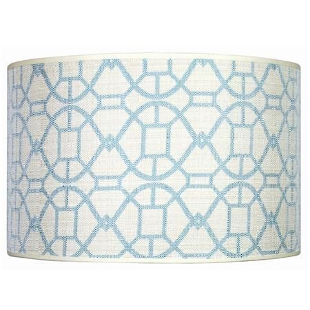 Blue and white lamp shade lighting lamp shades and chandeliers p