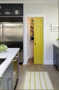 sliding door for the pantry. | Pocket doors | Pinterest