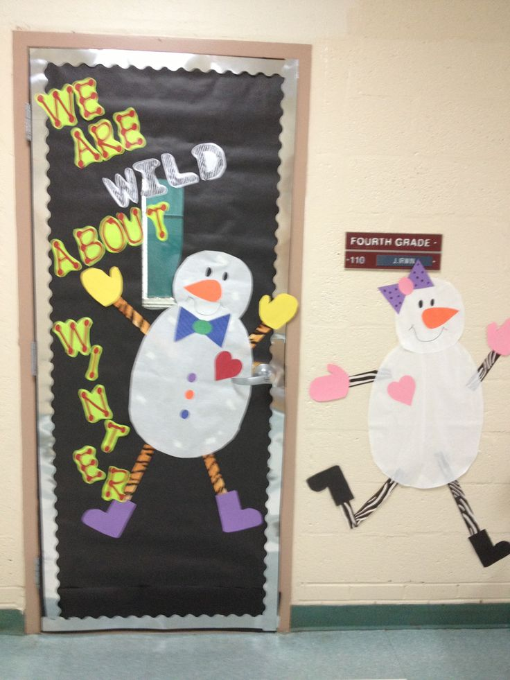 Winter Classroom Door Decor