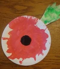 Paper-plate poppy | School ideas | Pinterest