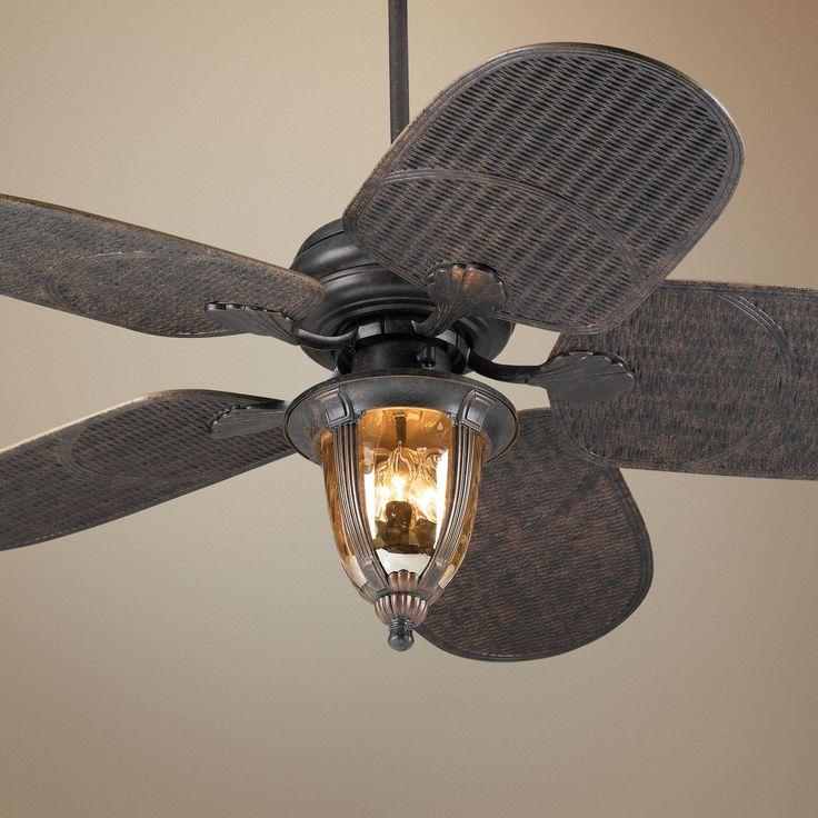 "52"" Casa Vieja Tropical Veranda Bronze Outdoor Ceiling Fan"