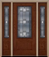 Fiberglass Exterior Elegant Front Entry Door Two Sidelites ...