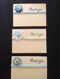 Thank you cards #handmade by BB | handmade cards | Pinterest