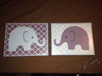 DIY canvas nursery wall art | My pins | Pinterest