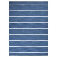 Blue and white stripe rug | Live it | Pinterest