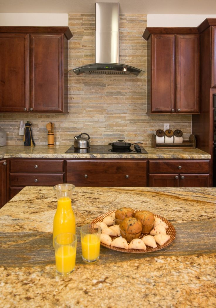 Yellow River Granite And Backsplash Idea Dream Home