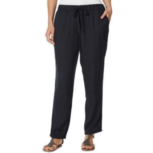 Gloria Vanderbilt Pull On Pants In Black