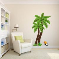 palm tree wall decal 2017 - Grasscloth Wallpaper