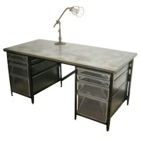 Industrial style file desk. | office | Pinterest