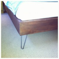 Hairpin Leg Bed! | */ DIY | Pinterest