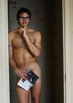 stockings nude nerd glasses