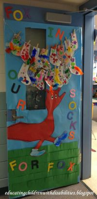Fox in Socks door decorating contest   Educating children ...
