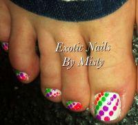 Polka dot toe nail art | hair and nails | Pinterest