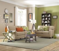 Green Cream Living Room