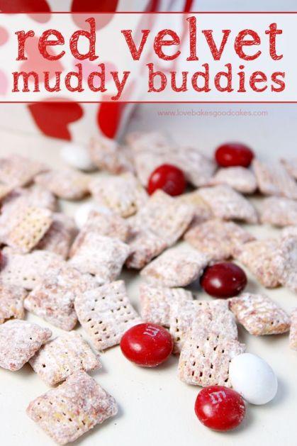 red velvet muddy buddies