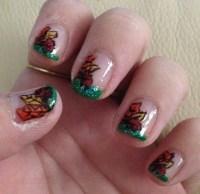 11 Festive Fall Leaf Nail Designs