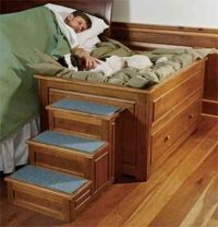 raised dog bed with steps | aminals | Pinterest