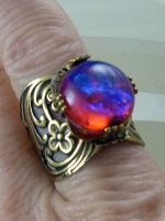 Dragon S Breath Fire Opal Ring