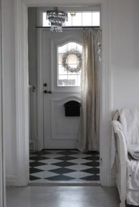 front door - love the curtain on it | Home | Pinterest